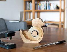 Suck UK Quack Tape Dispenser #wood #tape #gadget #dispenser