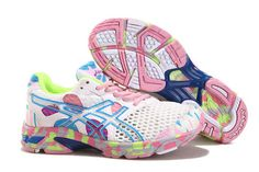 Womens Asics Gel Noosa TRI 7 White Pink Shoes #shoes