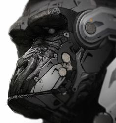 Gorilla by fightpunch on deviantART #cyborg #gorilla