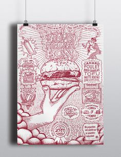 LPM burgers on Behance #meat #poster