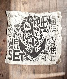 Jon Contino | PUBLIC SCHOOL #contino #jon #rope #sail #black #illustration #canvas #anchor #pirate #typography