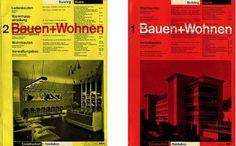 Bauen+Wohnen Covers #grid #print #design