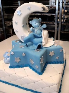 Como fazer Bolo para o Chá de bebê - Passo a passo - baby shower cakes,