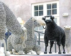 CJWHO ™ (Sheep sculptures made from rotary telephones |...)