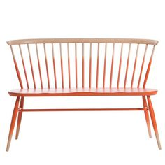 Ercol Half Mandarin Love Seat #seat #design #wood #furniture #ercol #dipped