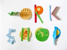 BOSQUE STUDIO ® TYPE WORKS #workshop #bosque #collage #paper #typography