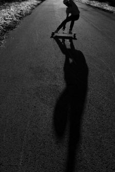 Longboarding #night #longboarding #photography