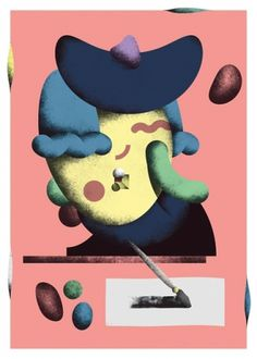 Martin Nicolausson : Pick Me Up/Artist Exhibits #print #illustration