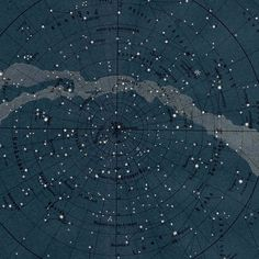 pixelsbeatpaper:1894 Milky Way Star MapOriginal antique celestial astronomy chart print of the northern hemisphere in navy coloring. #map #s