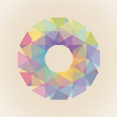 Fig. 036 Art Print by Maps of Imaginary Places | Society6 #geometry #hexagons #print #design #color #shapes #geometric #poster #triangles