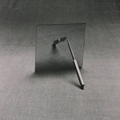 Equilibrium, 1975 by tim head #abstract #white #tim #head #black #mirror #1975 #photography #and #knife #equilibrium