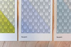 Big-Giant 2014 Holiday Cards #print #pattern #stationery