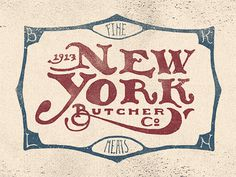 New York Butcher Co by Adam Trageser #inspiration #creative #lettered #personalized #design #illustration #logo #hand