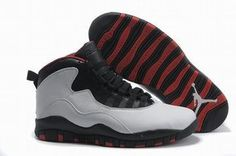 retro jordan x sneakers white black red #shoes