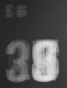 Graphic poster with transparent numbers #poster #graphic design #number