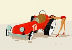 SketchThisOut by Simone Massoni | chicks'n'wheels #visual #simone #design #massoni #girls #hot #cars