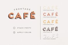 Frontage Typeface +freefont on Behance