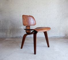 Eames Chair #chair #worn #concrete #eames