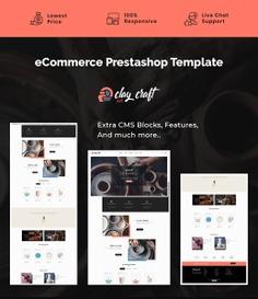 #Clay #Craft - #Art & #Decoration - #Prestashop #Responsive #Theme | #TemplateTrip #eCommerce #Website #Design #Template