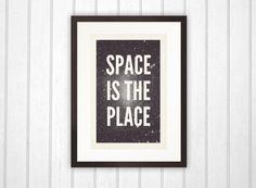space is the place #frame #place #space #stars #framed #typography