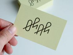 Business Cards Oh+Ah by Timo Meyer #typography #business card #lettering #custom type