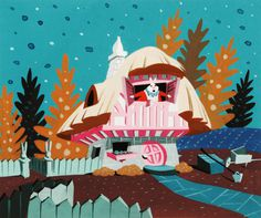 Concept art by Mary Blair for Disney