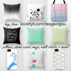 prints, pattern, illustration, graphic design! BUY NOW! society6.com/cleageorgiou #pattern #prints #design #graphic #colours #illustration #society6