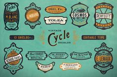 5 Comments #bicycle #cycle #crest #shield #vintage #bike #logo