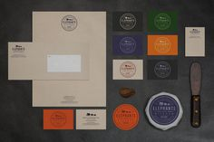 Elephants in the Kitchen Brand Identity by Bluerock Design #logotype #identity #vintage