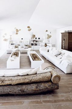 CJWHO ™ (A Home in Sardinia, Italy | Marina Wenger ...) #wood #white #italy #living room #interiors #luxury #sardinia