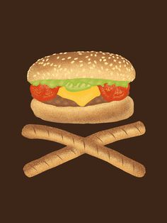 High Fat #illustration #design #graphic #food