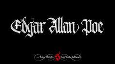 Edgar Allan Poe #calligraphy #theraven #gothic #steveczajka
