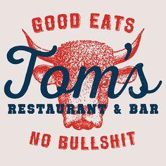 Logo for Tom's Restaurant. #logo