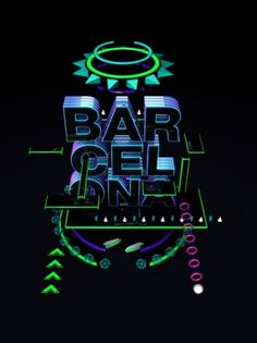 Barcelona on the Behance Network #barcelona #neon