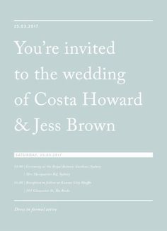 Cos - Wedding Invitations #paperlust #weddinginvitation #weddinginspiration #design #paper #card #print #digitalcards
