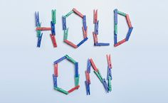 Hold On By Domenic Bahmann #type #custom #typography