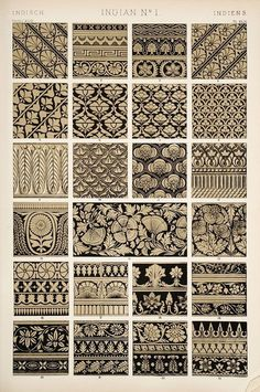 Indian design ornaments/motifs/patterns