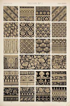 Indian design ornaments/motifs/patterns