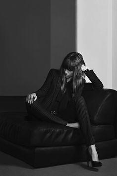 Freja Beha Erichsen by Hedi Slimane for Saint Laurent Campaign