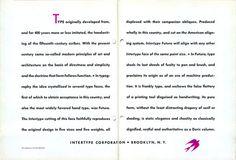 Intertype Futura type specimen #type #specimen #typography