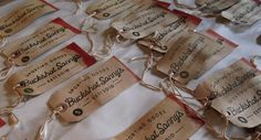 Custom stained and tip dyed hang tags for our friends over atBuckshot Sonny's. #type #tag #wordmark