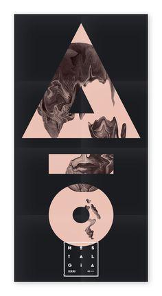Nostalgia XXXI Poster #music #identity #branding #typography