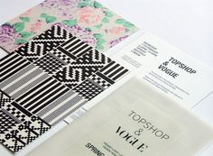 Vogue / Topshop Invites 4 #pattern #branding