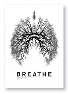 Breathe poster « Studio8 Design #design #poster #black and white
