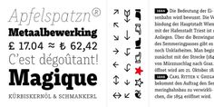 specimen and text of muriza #font #specimen #letters #serif #typeface #slab #type