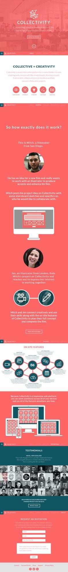Collectivity Collaborative Web App Concept on Behance