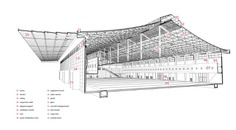 Shijiazhuang International Convention & Exhibition Center,section of standard exhibition hall