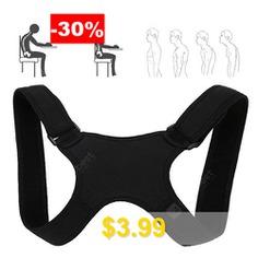 Spine #Protection #Posture #Corrector #Back #Shoulder #Correcting #Belt #- #BLACK