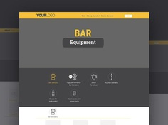 Free Equipment Website Template