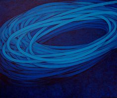 Luciano de Liberato - abstract composition in blue #artwork #painting #blue #art